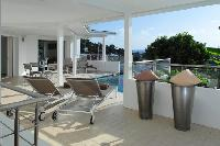 cool poolside of Saint Barth Villa Wastra luxury holiday home, vacation rental