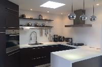 cool modern kitchen of Saint Barth Villa Wastra luxury holiday home, vacation rental