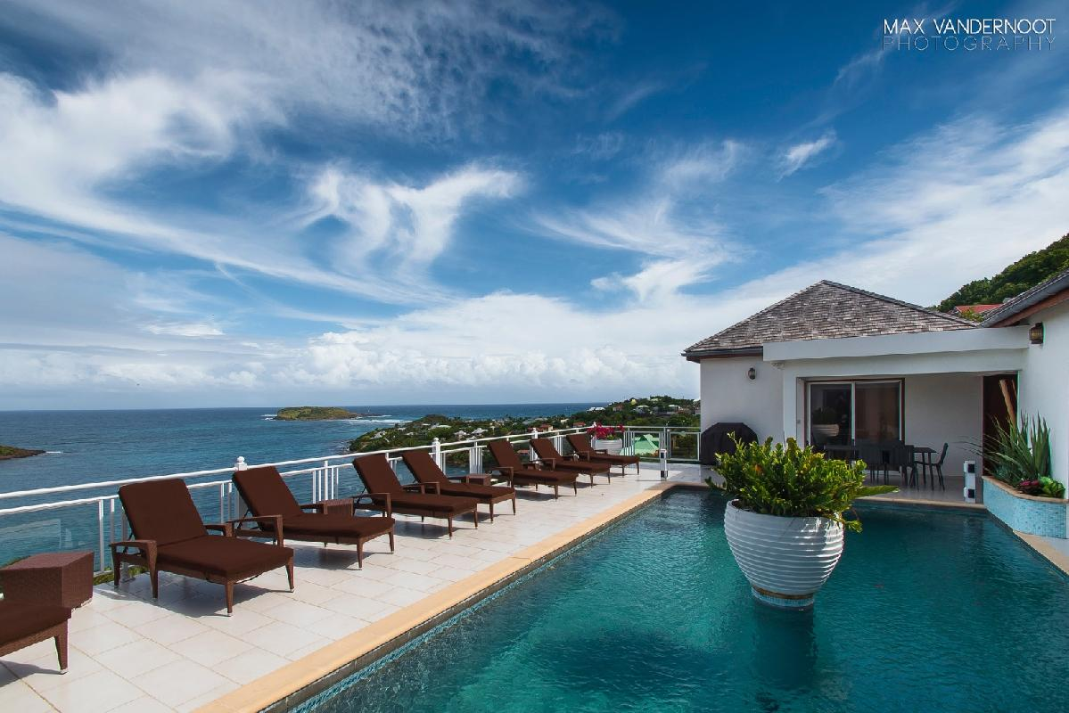 beautiful beachfront Saint Barth Villa Bellevue luxury holiday home, vacation rental