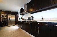 swanky kitchen of Saint Barth Villa Bellevue luxury holiday home, vacation rental