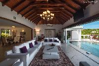 cool lanai of Saint Barth Villa Bellevue luxury holiday home, vacation rental