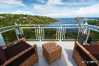cool terrace of Saint Barth Villa Bellevue luxury holiday home, vacation rental