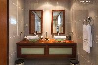 cool vanity in Saint Barth Villa Bellevue luxury holiday home, vacation rental