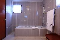 spic-and-span bathroom in Saint Barth Villa Bellevue luxury holiday home, vacation rental