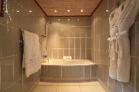cool bathtub in Saint Barth Villa Bellevue luxury holiday home, vacation rental