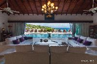 cool dining area in Saint Barth Villa Bellevue luxury holiday home, vacation rental