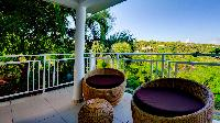 pretty patio chairs in Saint Barth Villa Bellevue luxury holiday home, vacation rental