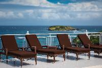 cool sun loungers in Saint Barth Villa Bellevue luxury holiday home, vacation rental