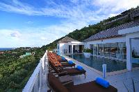 beautiful balcony of Saint Barth Villa Bellevue luxury holiday home, vacation rental