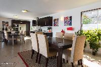 cool dining room of Saint Barth Villa Bellevue luxury holiday home, vacation rental