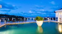 cool swimming pool of Saint Barth Villa Bellevue luxury holiday home, vacation rental