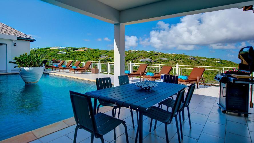 cool cabana of Saint Barth Villa Bellevue luxury holiday home, vacation rental