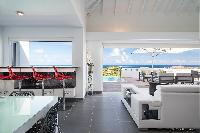 adorable living room of Saint Barth Villa Iris luxury holiday home, vacation rental