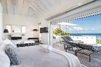 clean bed sheets in Saint Barth Villa Iris luxury holiday home, vacation rental