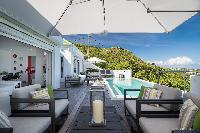 nifty patio of Saint Barth Villa Iris luxury holiday home, vacation rental