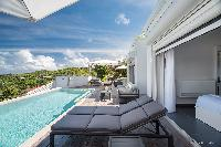 nifty poolside of Saint Barth Villa Iris luxury holiday home, vacation rental