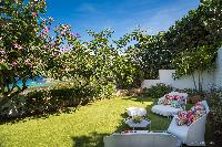 nifty garden of Saint Barth Villa Iris luxury holiday home, vacation rental