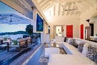 nifty lanai of Saint Barth Villa Iris luxury holiday home, vacation rental