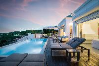 nifty swimming pool of Saint Barth Villa Iris luxury holiday home, vacation rental