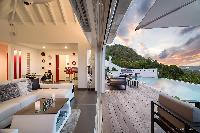 adorable terrace of Saint Barth Villa Iris luxury holiday home, vacation rental