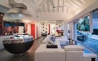 incredible ceiling of Saint Barth Villa Iris luxury holiday home, vacation rental