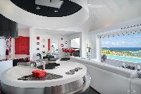 cool kitchen of Saint Barth Villa Iris luxury holiday home, vacation rental