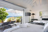 clean bedroom linens in Saint Barth Villa Iris luxury holiday home, vacation rental