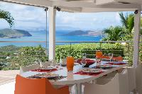 cool terrace of Saint Barth Villa Mapou luxury holiday home, vacation rental