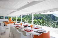 cool deck of Saint Barth Villa Mapou luxury holiday home, vacation rental