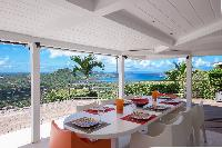 awesome view from Saint Barth Villa Mapou luxury holiday home, vacation rental