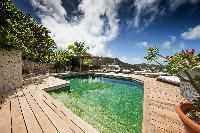 cool swimming pool of Saint Barth Villa Mapou luxury holiday home, vacation rental