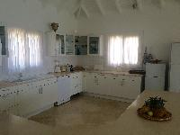 contemporary kitchen of Saint Barth Villa Milonga luxury holiday home, vacation rental