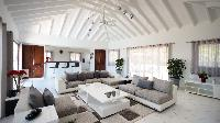 incredible ceiling of Saint Barth Villa Panorama luxury holiday home, vacation rental