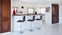 cool breakfast bar of Saint Barth Villa Panorama luxury holiday home, vacation rental