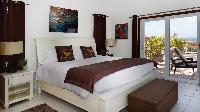 crisp bedroom linens in Saint Barth Villa Panorama luxury holiday home, vacation rental