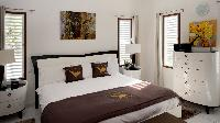 pristine bedding in Saint Barth Villa Panorama luxury holiday home, vacation rental