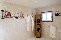 clean bathroom in Saint Barth Villa Panorama luxury holiday home, vacation rental