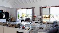 pleasant living room of Saint Barth Villa Panorama luxury holiday home, vacation rental