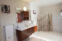 cool bathroom interiors of Saint Barth Villa Panorama luxury holiday home, vacation rental