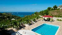 cool poolside of Saint Barth Villa Panorama luxury holiday home, vacation rental