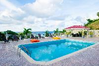 cool swimming pool of Saint Barth Villa Panorama luxury holiday home, vacation rental