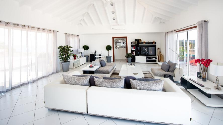 cool sitting area in Saint Barth Villa Panorama luxury holiday home, vacation rental