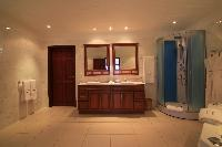 elegant bathroom in Saint Barth Villa Rising Sun holiday home, luxury vacation rental