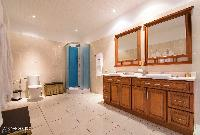 awesome bathroom in Saint Barth Villa Rising Sun holiday home, luxury vacation rental