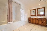cool bathroom interiors of Saint Barth Villa Rising Sun holiday home, luxury vacation rental