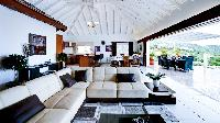 incredible ceiling of Saint Barth Villa Rising Sun holiday home, luxury vacation rental