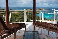 beautiful balcony of Saint Barth Villa Rising Sun holiday home, luxury vacation rental
