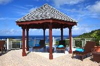 cool gazebo of Saint Barth Villa Rising Sun holiday home, luxury vacation rental