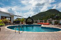 invigorating pool of Saint Barth Villa Rising Sun holiday home, luxury vacation rental