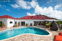 relaxing pool of Saint Barth Villa Rising Sun holiday home, luxury vacation rental